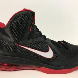 NIKE LeBron 9 Basketball Shoe Miami Heat Away 10 M